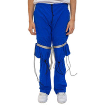 Blue Nylon Pants