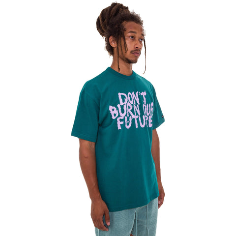 Don't Burn Our Future T-shirt [Teal]