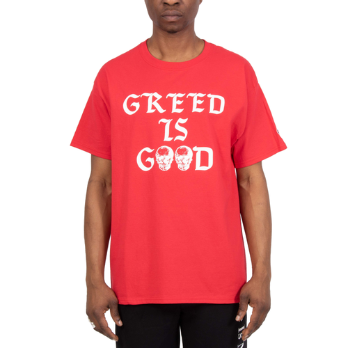 Greed Is Good Red Tee