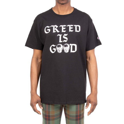 Greed Is Good Black Tee