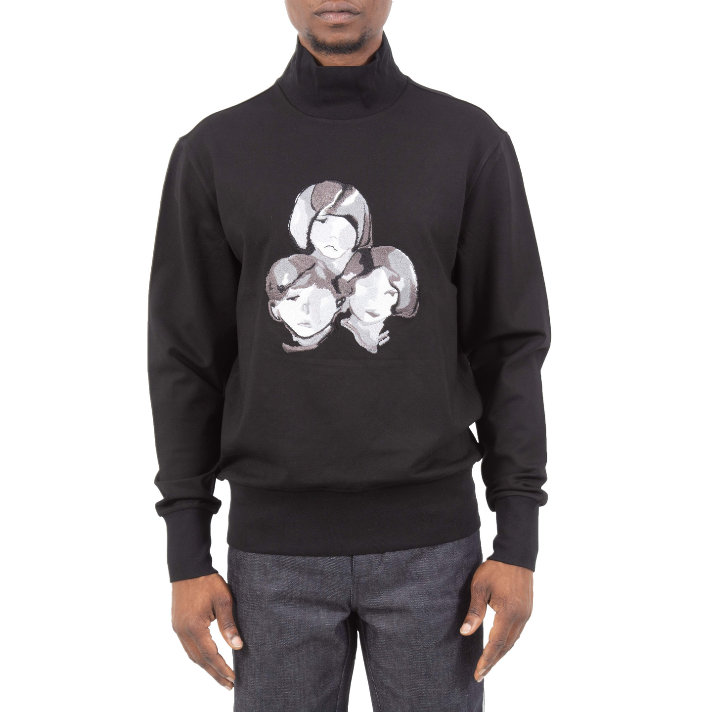 3 Portrait Embroidered Sweatshirt