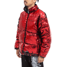 SEQUIN COLOR CHANGE PUFFER JACKET