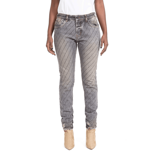 CLARK CRYSTAL GREY WASH-OUT JEANS