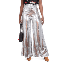 FEVER SILVER SEQUIN PANTS