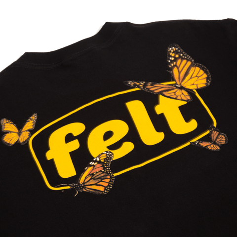 BUTTERFLY BLACK WORK T-SHIRT