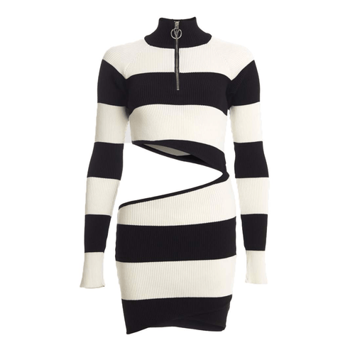 PEGGY STRIPED CUT OUT MINI DRESS