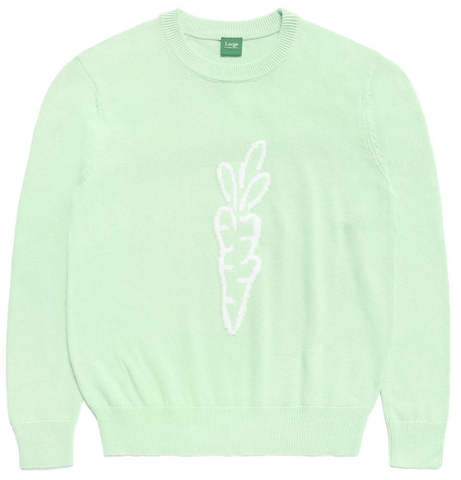 SIGNATURE CARROT KNIT SWEATER - SAGE GREEN