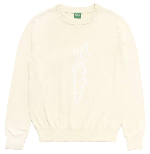 SIGNATURE CARROT KNIT SWEATER - IVORY