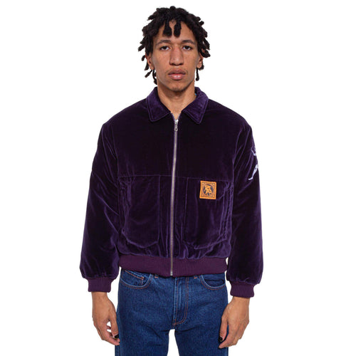 Forest Hump Velvet Bomber Purple
