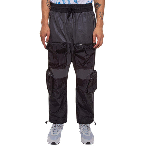 Color Block Nylon Cargo Pant - Black / Grey