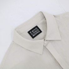 Light Gray Nylon Collared Shirt