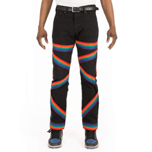 Reconstructed Rainbow Bondage Denim