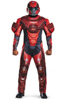 Halo Red Spartan Muscle Adult Costume, Medium