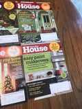 This Old House Magazines, March 2010 to February 2011, Lot of 10