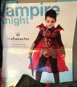 Boys Vampire Knight Costume, size 6, Undead Warrior, Defect SALE  Halloween