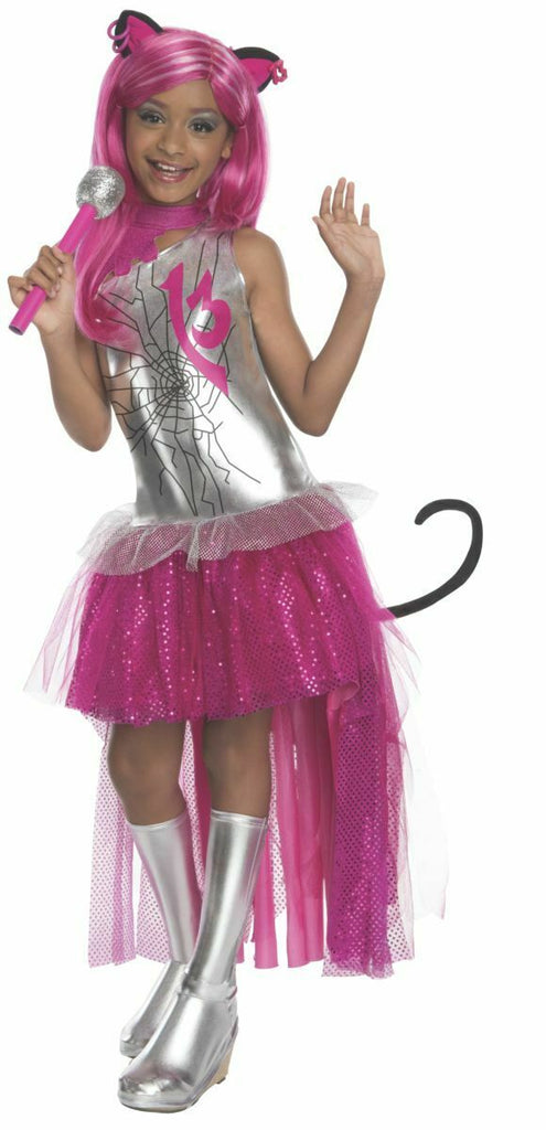 Monster High Child Catty Noir Costume, Large, Defect SALE Pink & Silver w/mic