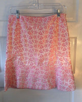 Tuleh Pink Floral Jacquard Skirt with lots of detail. Size 4 , Designer