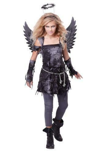 Spooky Angel Costume, Teen LG California Costumes Fallen Scary Missing Leggings