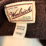 Woolrich Women's Brown Zip Up Sweater Vest with leaf pattern Medium