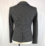 Banana Republic Women's Black and White Striped Blazer Size 4
