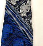 Vintage 60's 70's Snapper Clip On Tie, Bold Blue Gray Roman Gladiator Design