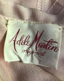 Vintage 60's Adele Martin Original Soft Pink Sheath Dress Pockets