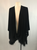 Black velvet wrap with marabou trim, J.R. Nites by Caliendo
