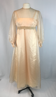 Vintage 70's Wedding Cream Long Dress