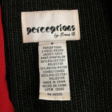 Vintage 80's Perceptions by Irene B Black Red Blazer, Top with Metal Accents
