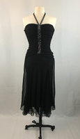 BCBGMaxAzria Black Halter Style Formal Cocktail Dress, Size Medium