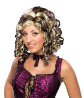 Brown and Blonde Banana Curl Wig, two tone