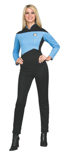 Deluxe Star Trek Next Generation Science Uniform Womens Jumpsuit