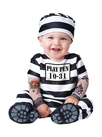 Baby's Time Out Convict Costume - Nevermore Costumes