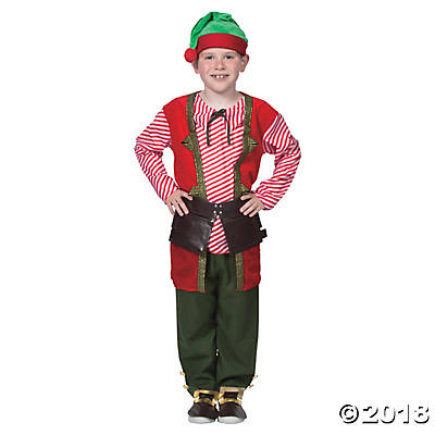 Boy's Toy Maker Elf Costume - Nevermore Costumes