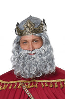 Wise Man Biblical King Gray Wig and Beard - Nevermore Costumes