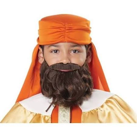 Boys Wise Man Biblical King Brown Beard and Mustache - Nevermore Costumes
