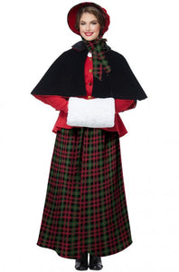 Women's Holiday Christmas Caroler Costume