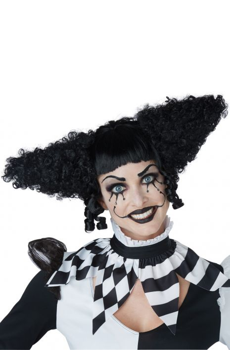 Black Creepy Clown Wig - Nevermore Costumes