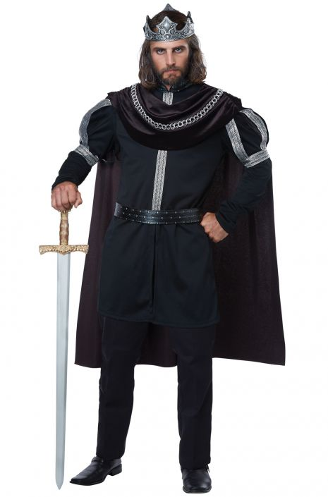 Dark Monarch Costume, Medieval King - Nevermore Costumes