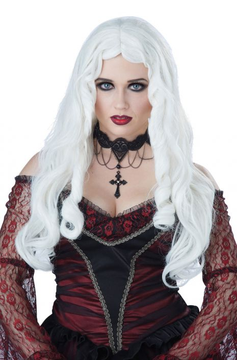 Gothique En Blanc Wig (White) - Nevermore Costumes