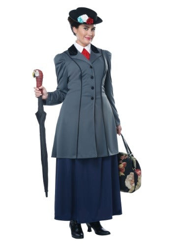 English Nanny Mary Poppins Costume, Plus Size - Nevermore Costumes