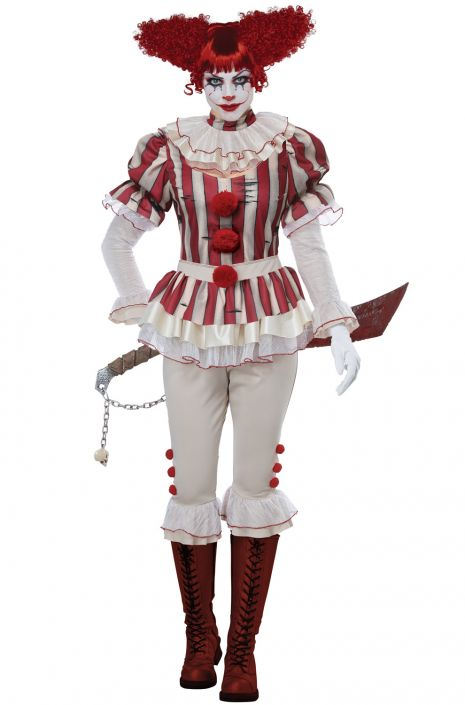 Sadistic Clown Women's Costume - Nevermore Costumes