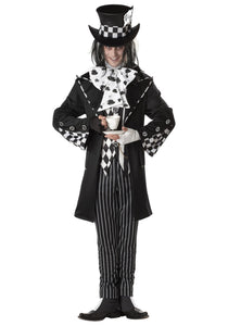 Men's Dark Mad Hatter Costume - Nevermore Costumes