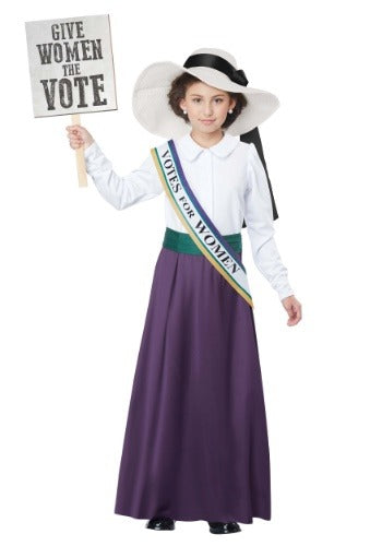 Girls American Suffragette Costume - Nevermore Costumes