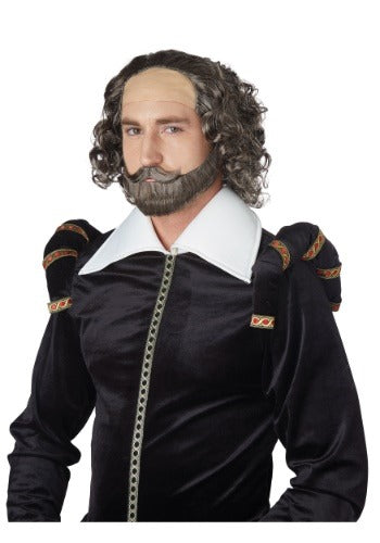 Shakespeare Wig and Beard Set - Nevermore Costumes
