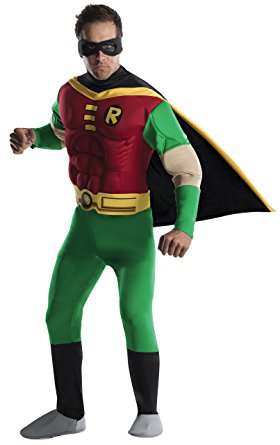 DC Comics Deluxe Muscle Chest Robin Adult Costume - Nevermore Costumes
