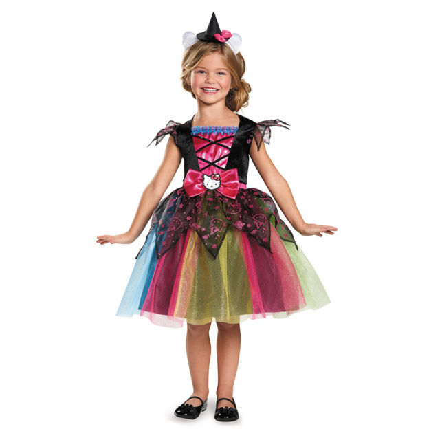 Girls Deluxe Hello Kitty Witch Costume, Sanrio - Nevermore Costumes