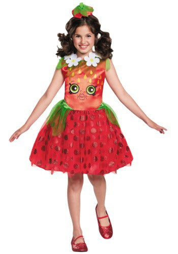 Shopkins Strawberry Kiss Classic Girls Costume - Nevermore Costumes