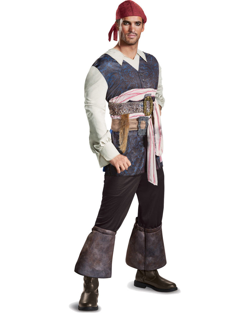 Disney Men's Captain Jack Sparrow Classic Costume, Pirate of the Carribean - Nevermore Costumes