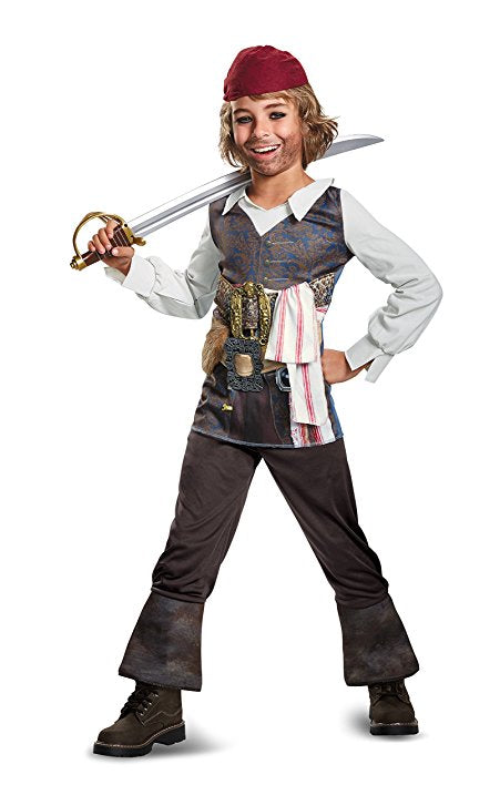 Disney POTC5 Captain Jack Sparrow Classic Costume - Nevermore Costumes